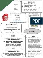 health syllabus 2018-2019