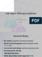 Lab Report Writing Guidelines