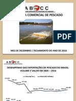 Balança Comercial de Pescado 2016