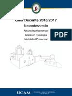 Pre Mneuro Neurodesarrollo 2016-17
