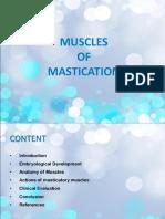 MUSCLES OF MASTICATION Dr.vasundhara
