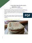 Descubre Como Hacer Pan de Pita Casero