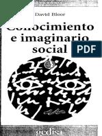 Conocimiento e Imaginario Social (Bloor)