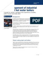 Safe Management of Industrial Steam and Hot Water Boilers HSE