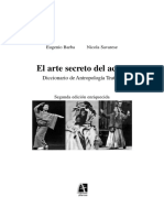 El Arte Secreto Del Actor de Eugenio Barba y Nicola Savarese.