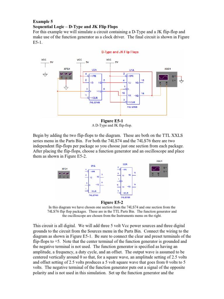 Bistabili Multisim Electronic Circuits Engineering Block Diagram Jk Flip Flop