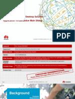 Huawei FusionCloud Desktop Solution Application Virtualization Main Slides