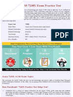 Solutions 7230X Exam Practice Test - Online Version