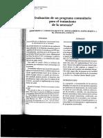 Manzi Et Al - 1983 - Evaluación Programa Comunitario Neurosis