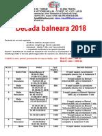 Decada Balneara 2018 PDF