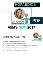 Aiims Nov 2017 Answers