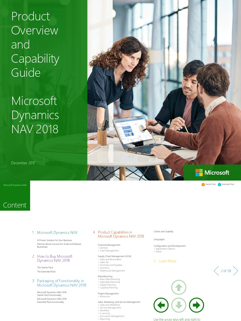 Microsoft Dynamics Nav 2018 Product Overview And Capabilities Guide Microsoft Dynamics Nav Share Point
