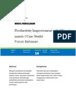 Modul 14 Analisa Produktifitas