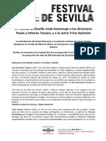 Sevilla European Film Festival Presentacion Madrid 2017