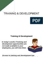 Training & Dev.