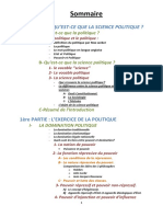 Résumé Module Sciences Politiques