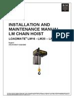Manual Polipasto R&M Load Mate LM16