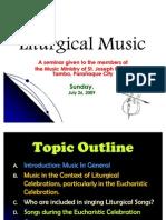 Liturgical Music Seminar