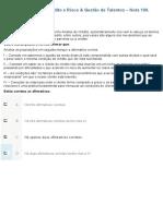 APOL 1 - Análise de Crédito e Risco & Gestão de Talentos - Nota 100