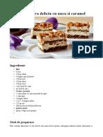 Prăjitură Deliciu Cu Nuci Și Caramel