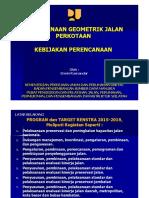1. Kebijakan Perencanaan Geometrik Jalan Kota 28 Nov
