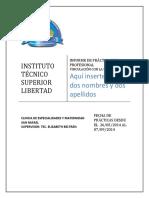 Modelo de Informe Practicas Pre Profesionales Vinculación Con La Sociedad