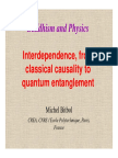 Buddhism and Physics Interdependence From Classical Causality to Quantum Entanglement Michel Bitbol
