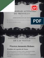 Control y Evaluacion de Ventas.