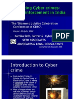 Combating Cyber Crimes in India