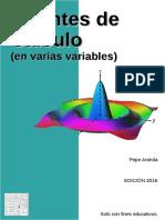 Apuntes de Cálculo Varias Variables - 2016 - Aranda