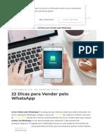 22 Dicas para Vender pelo WhatsApp - Marketing Digital.pdf