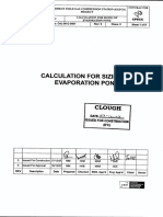 Calculation and Sizing of Evaporat Pond