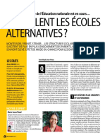 Que valent les écoles alternatives