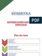 Semana 11- 1 Distribuciones Discretas Especiales