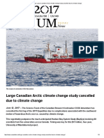 Câmbio Clima _ Large Canadian Arctic Climate Change Study Cancelled Due to Climate Change