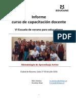 Informe Escuela de Verano Cuba, Julio 2016 (1)