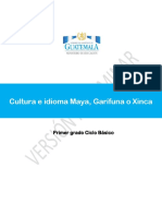 Area de Cultura e Idiomas Maya Garifuna o Xinca Primero Básico (1)