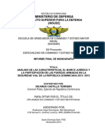 Tesis Ley de Transito Republica Dominicana