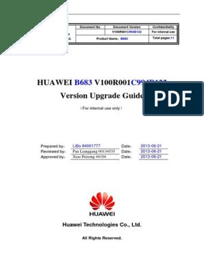 Huawei V100R001 Version Upgrade Guide: Huawei Technologies Co , Ltd