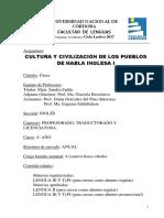 Cultura y Civilizacion de Los Pueblos Del Habla Inglesa i