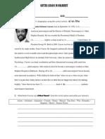 Gifted Hands Worksheet