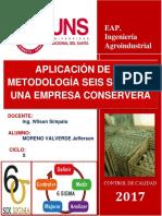 Aplicación de La Metodología Seis Sigma en Una Empresa Conservera Definir y Medir