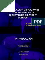 Formulacion Por Aminoacidos Digestibles Ppt