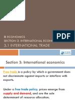 Section 3.1 International Trade 6