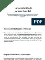 Responsabilidade Socioambiental Direito Empresarial