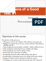 4. Conditions of a Good Test #1