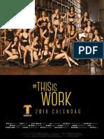 FHM Official Calendar 2018