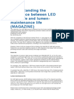 Understanding the Difference Between LED Rated Life and Lumen