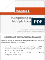 Chapter 6 - Multiplexing and Multiple Access