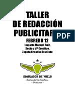 Taller Redacción Publicitaria